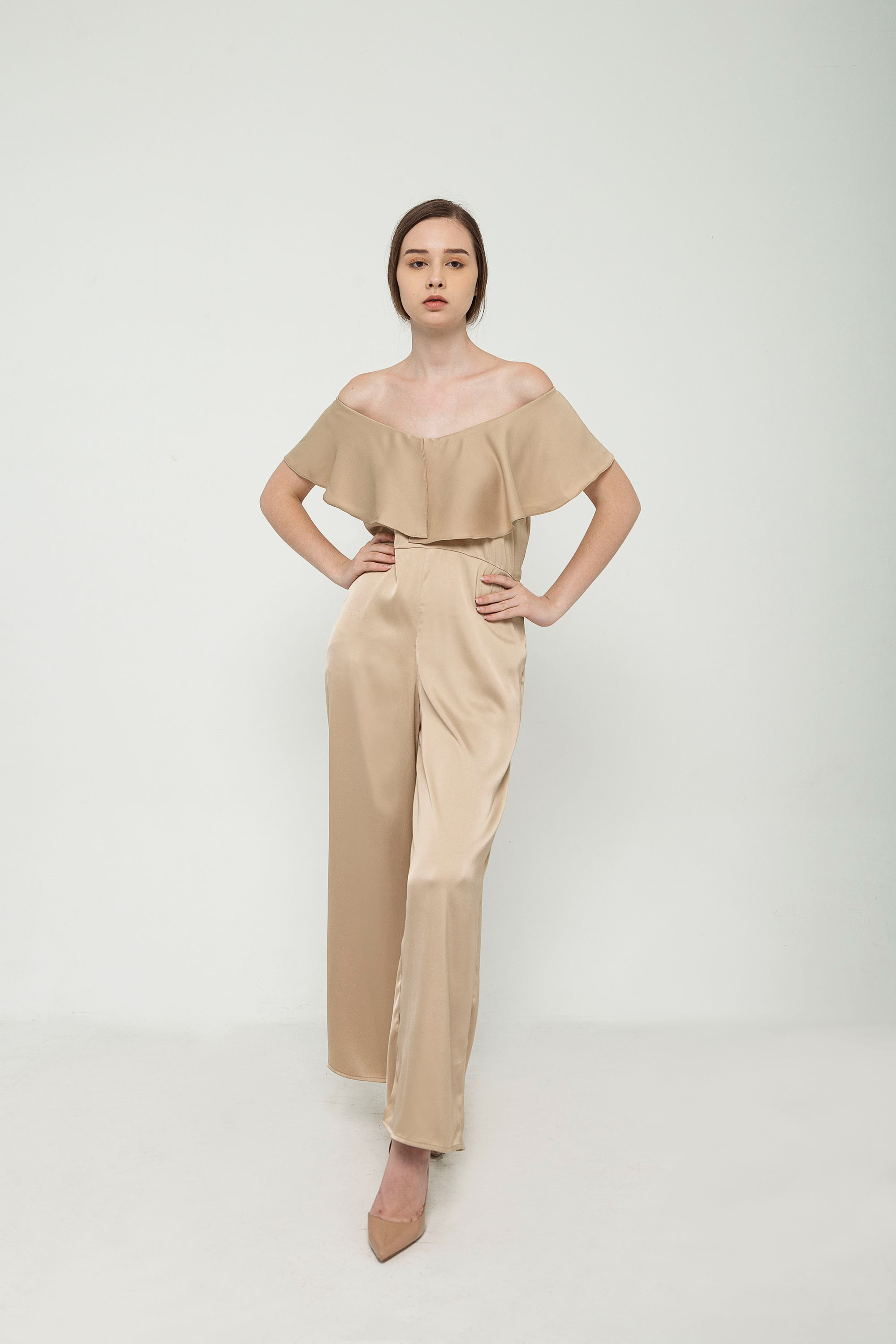 Picture of Olive Jumpsuit in Caramel